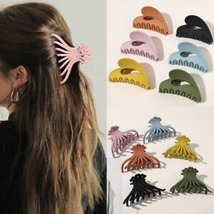 Women Geometric Acrylic Hair Claws Crab Clamp Large Size Marble Makeup Hair Clip
