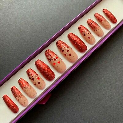red valentine's day coffin nails  any last 30 days last 3