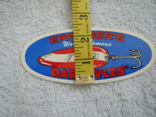 Details about  /FISHING DECAL NEW UNUSED VINTAGE EPPINGER/'S WORLD FAMOUS DARDEVLES