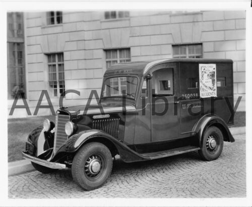 Factory Photo 1936 International Harvester C5 Armored Mail Truck Ref. #48286