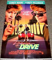 License To Drive 1988 Orig. Movie Poster Corey Haim & Corey Feldman Teen Comedy