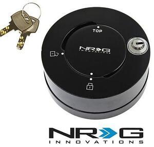 NRG Steering Wheel Quick Release Hub Quick Lock Shine Black Finish