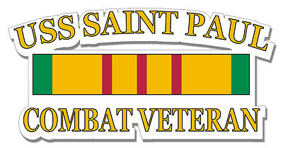 "USS Valley Forge Vietnam Combat Veteran 5.5/"" Window Sticker Decal"