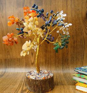 Stone Tree Table Decor Reiki Gems Spiritual Feng Shui Vastu Multi