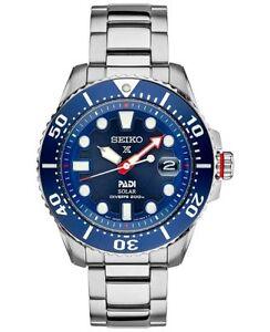 NEW-Seiko-SNE435-Prospex-Solar-Padi-200M-Stainless-Steel-Blue-Dial-Men-039-s-Watch