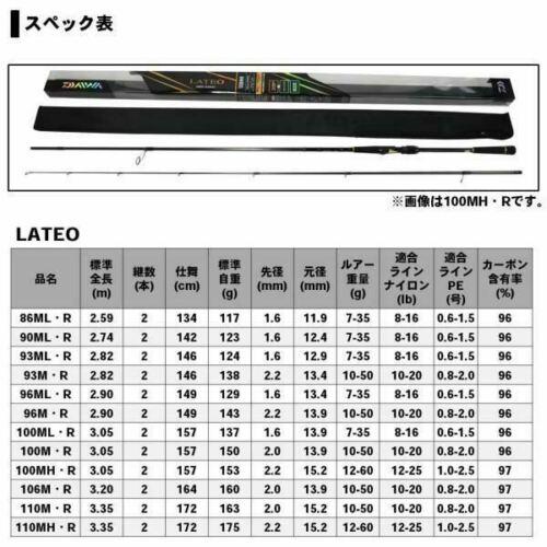 Daiwa Lateo R 110M Sea bass Spinning Rod From Stylish anglers Japan