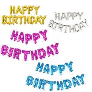 16-Inch-Gold-Silver-Happy-Birthday-Self-Inflating-Balloon-Banner-Bunting-Party