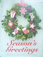 Christmas Motifs Cross Stitch Chart Snowflake Stocking Pudding Robin Tree Star