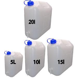 Häufig Wasserkanister Kanister mit Hahn 5l 10l 15l oder 20l AJ06