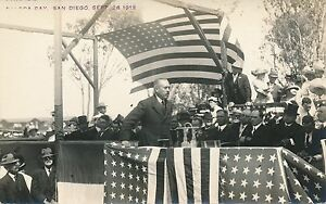San Diego Exposition Dedication Parade Review Stand Real Photo Postcard rppc