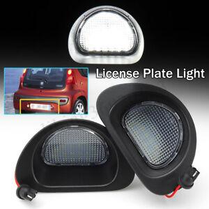 LED-Lampe-Lumiere-Plaque-d-039-immatriculation-For-Citroen-C1-Peugeot-107-MK1-6340E2