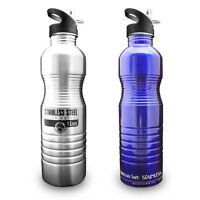 1 Liter 32oz Reusable Stainless Steel Metal Water Bottle-new Wave Enviro Litre