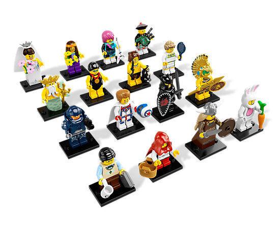 Lego 8831, 16 miniaturas, 7 nuevas.