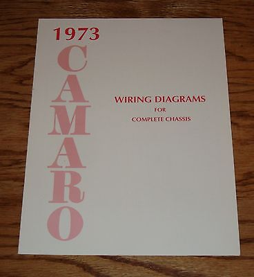 1973 Chevrolet Camaro Wiring Diagram Manual for Complete ...
