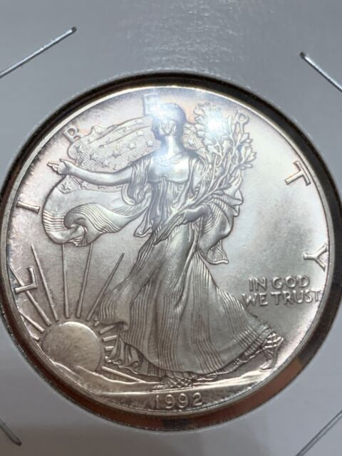 1992 1 OUNCE AMERICAN SILVER EAGLE