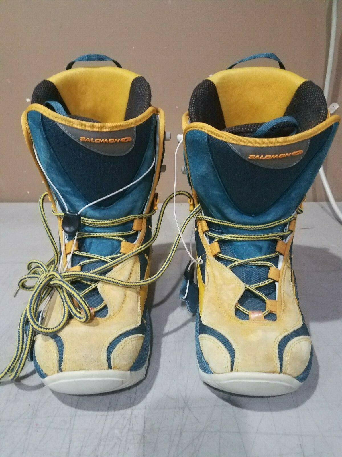 Salomon Malamute Unisex Size 8.5 Mens Women's 10.5 blueee Yellow FREE SHIP