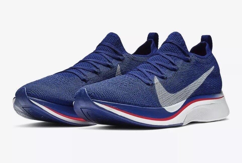 NWT Nike Vaporfly 4% Flyknit Deep Royal bluee Ghost Aqua Men's 11 AJ3857-400 RUN