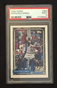 1992 Topps #362 Shaquille O'Neal PSA 9 MINT Rookie Card RC Magic Lakers HOF