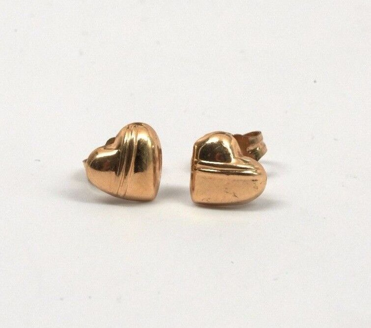 14K Yellow gold Earrings with small Hearts