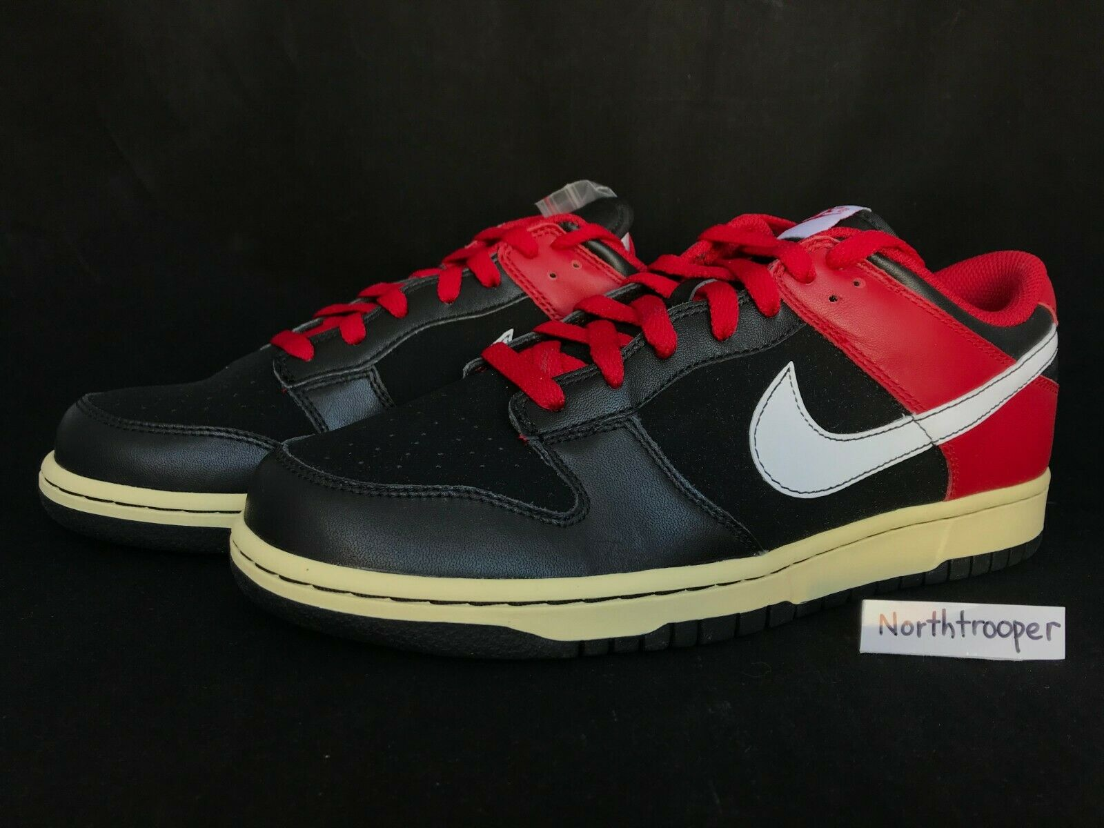 Nike Dunk Low CL Jordan BRED Black White-Varsity Red 304714-016 Sz10 NIB