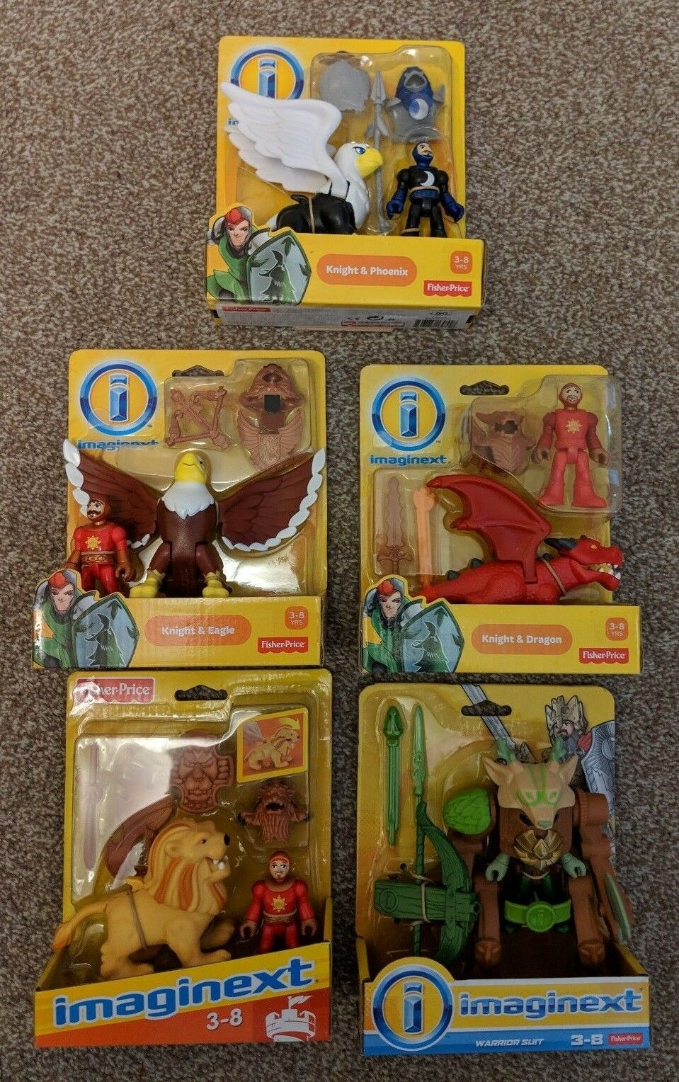 Imaginext Castle Friends 4 Knights And Warrior Suit Brand New And Rare Items