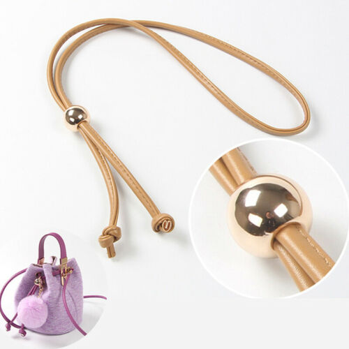 Detachable PU Leather Bag Strap Belt Bucket Bags Drawstring Bunches Pocket To MW