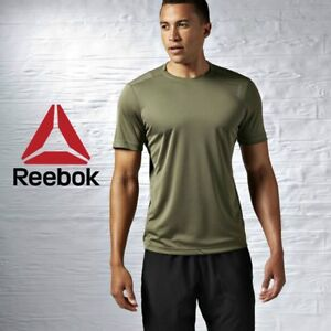Reebok-Crossfit-Homme-a-Manches-Courtes-Fitness-tee-shirt-haut-d-039-entrainement-gym-FREE-POST