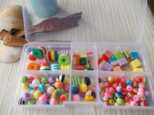 CABOCHONS AND BEADS FUN JEWELLERY MAKING /& BOX GUMBALL BEAD KIT KIDS SET