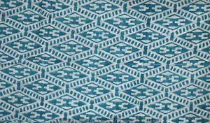 3-Yard-Indian-Hand-Block-Print-Cotton-Fabric-Blue-Running-Loose-Printed-Decor