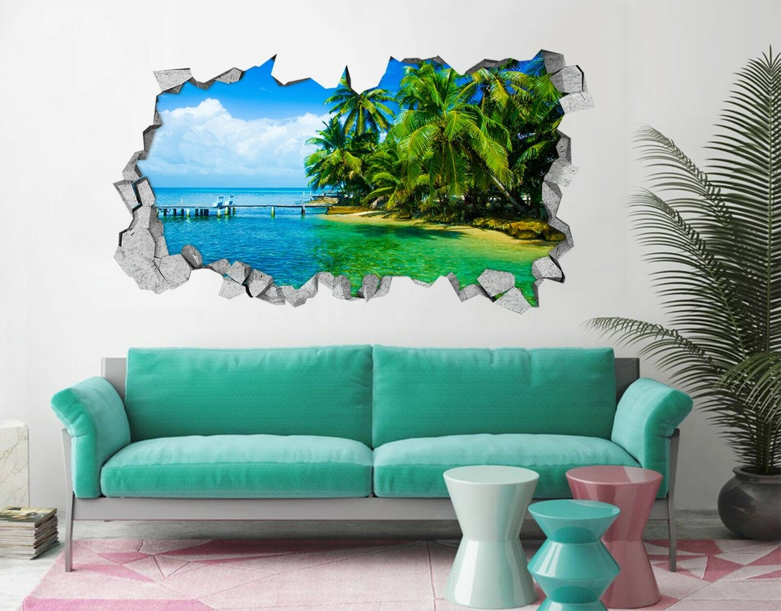 3D Tropisch Meer 12 Mauer Murals Mauer Aufklebe Decal Durchbruch AJ WALLPAPER DE