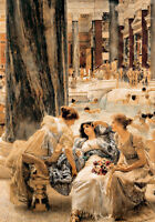 Sir Lawrence Alma-Tadema - The Baths of Caracalla  - 24'  CANVAS