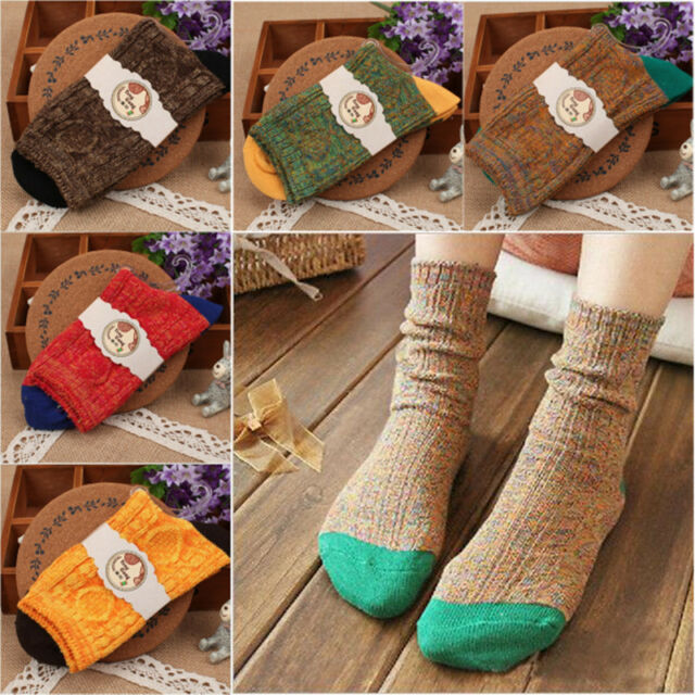 Mens Women's Casual Cotton Socks Design Multi-Color Fashion Dress Socks Winter
