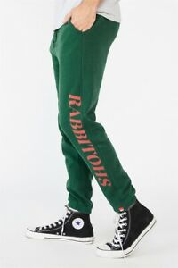NRL Mens Old School Track Pant Pants  In  Rabbitohs