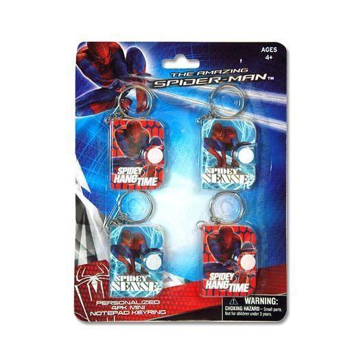 Spider-Man Mini Notepad Keyring 4-pack