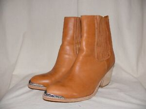 JEFFREY-CAMPBELL-Western-Stiefelette-Chelsea-Ankle-Boots-braun-41-TOP-Zustand