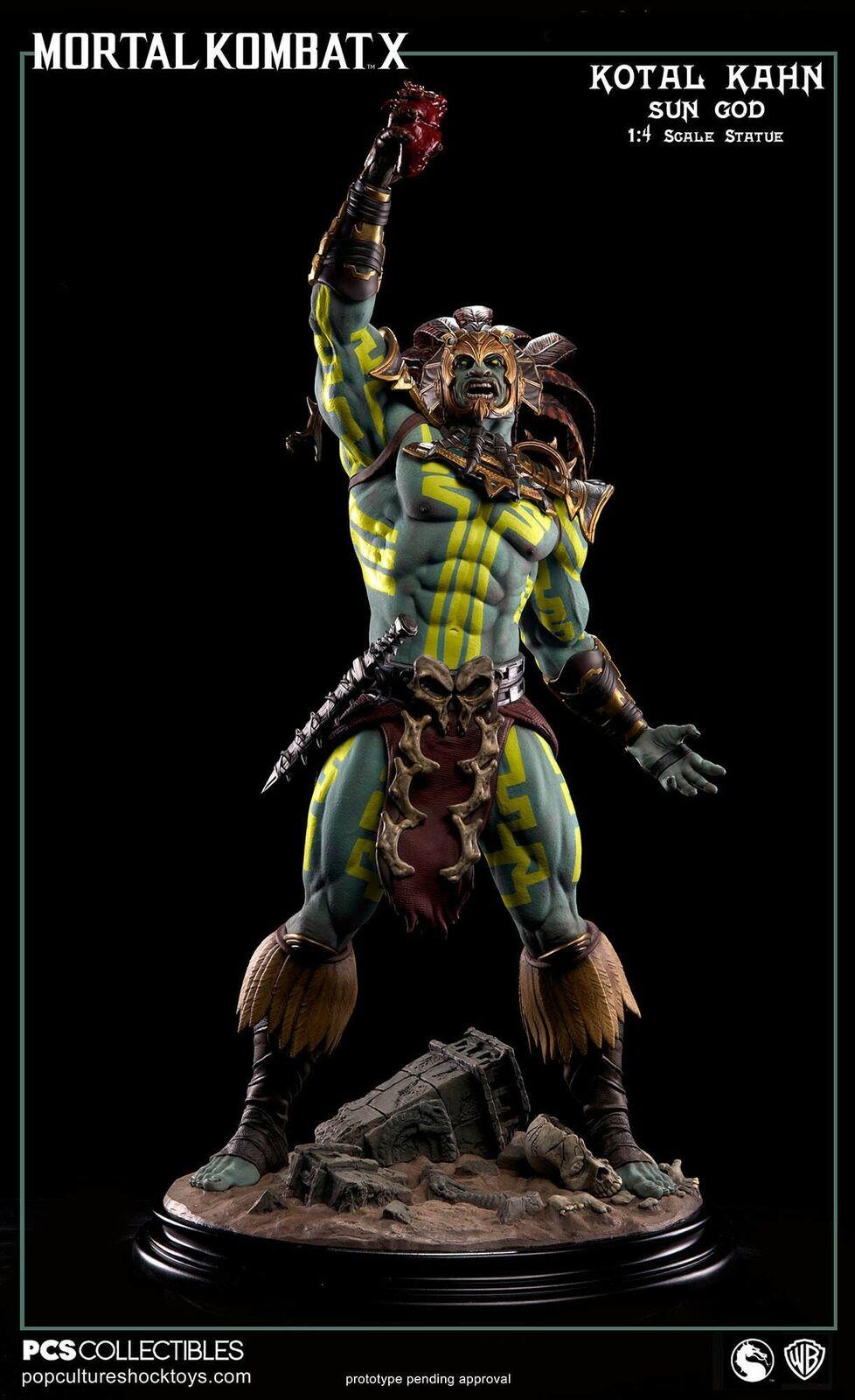 Mortal Kombat X Kotal Kahn Sun God 1 4 Statue 69 cm Pop Culture Shock