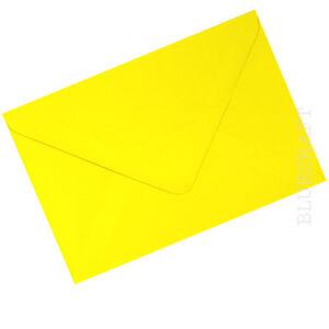 Confezione-da-10-x-A6-C6-PREMIUM-Buste-Daffodil-Giallo-100gsm-114-x-162mm-6-x-4-034