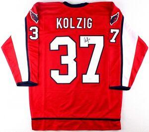 size 40 ee0bf 0c0e9 Details about Olaf Kolzig Signed Washington Capitals Jersey (JSA COA)