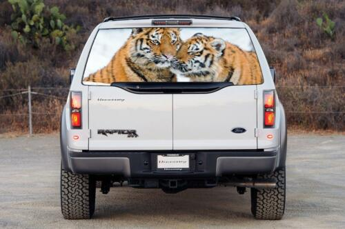 TIGERS Car Rear Window Graphic Decal Sticker Truck SUV Van Animals 072