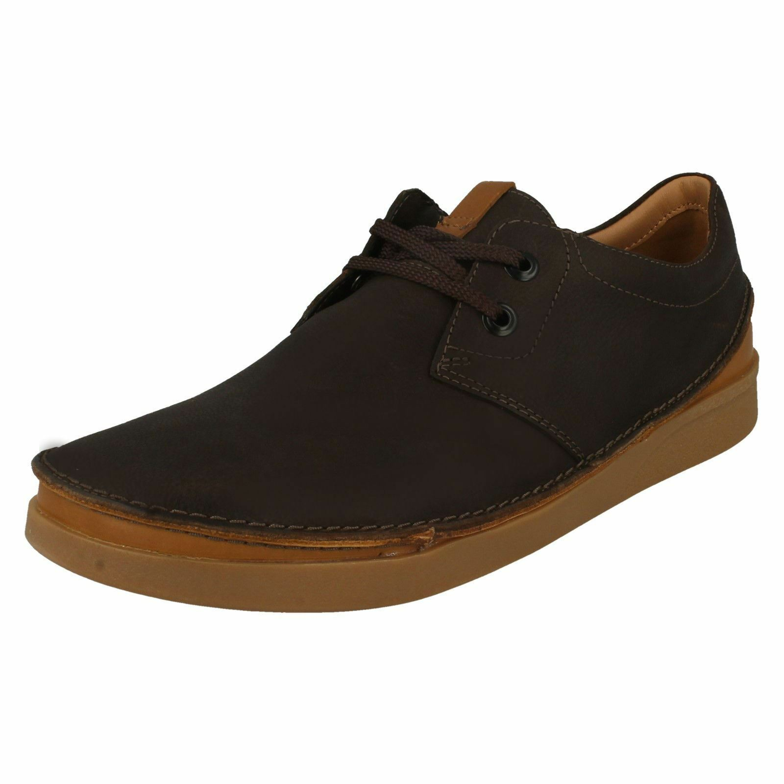 Mens Clarks Rounded Toe Casual Lace Up Leather shoes Oakland Lace