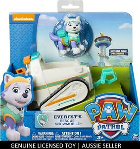 GENUINE-PAW-PATROL-Everest-039-s-Rescue-Snowmobile-Everest-Figure-amp-Vehicle