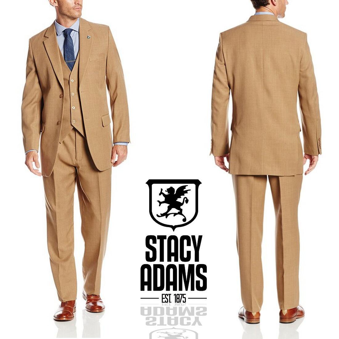 NWT LUXURY MEN'S SUIT BY STACY ADAMS 4016-448 REGULAR OR LARGE 3PC SET REG.r