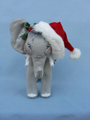 "SUE COFFEE EXCLUSIVE 9/"" ANNALEE CHRISTMAS ELEPHANT NEW 980503"