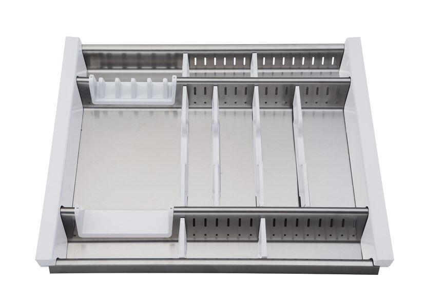Portaposate Per Cassettiera Da 90 Cm.Portaposate Da Cassetto In Acciaio Acciaio Acciaio Inox Adattabile