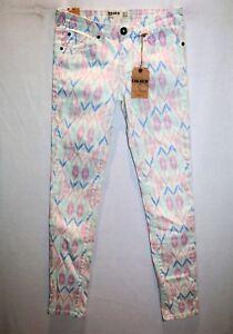 Cotton-ON-Colour-Brand-Pastel-Diamond-Aztec-Skinny-Leg-Jeans-Size-8-BNWT-SH104