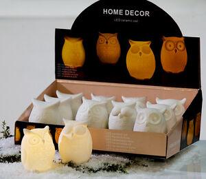 Moderne-et-Coole-Led-Deco-Chouette-en-Ceramique-Mat-Blanc-Hauteur-8-5-Cm