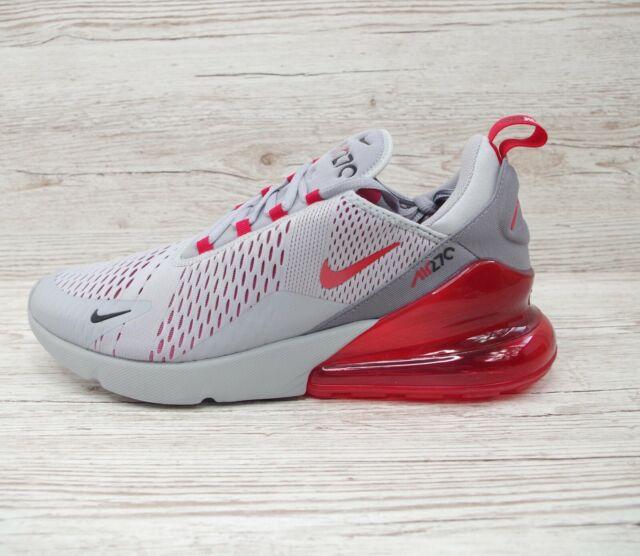 Nouveau Nike Air Max 270 Baskets Homme Noir Rouge Sang