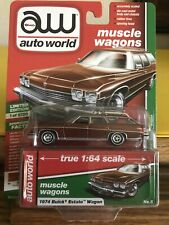 Auto World 1:64 2019 R2 Muscle Wagons 1974 BUICK ESTATE Station Wagon Version A
