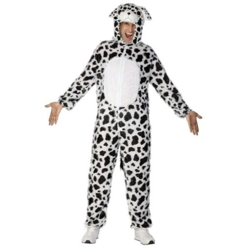 Men/'s Unisex Adult Dalmatian Costume Promotion Fancy Dress Fun Dog Outfit Party