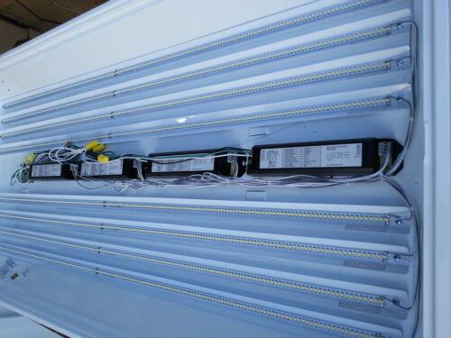 4 LED strips 4200K CCT DLC 48W LED Retrofit Kit for 2x4 fixture
